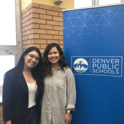 Crystal with her DPS CareerConnect Apprenticeship Coordinator Emily Takimoto