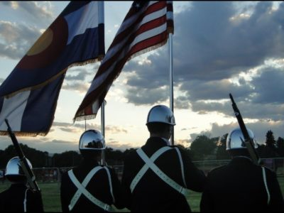 color guard sunset